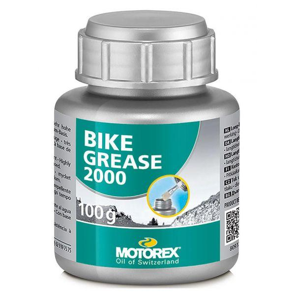 Смазка Motorex Bike Grease2000 (304852) густая, от -30 до +120°С, зеленая, 100гр