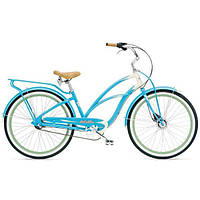 "Велосипед женский 26"" ELECTRA Super Deluxe 3i Ladies (Alloy), Aqua/Cream"