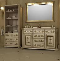 """Тумба и зеркало для ванной 130 """"Троя"""""""