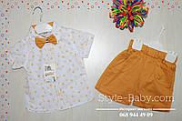 Костюм для мальчика шорты и рубашка с бабочкой размер 3,4 года