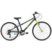 "Велосипед детский 24"" Apollo 2016 NEO BOYS GEARED, Charcoal/Lime/Blue"