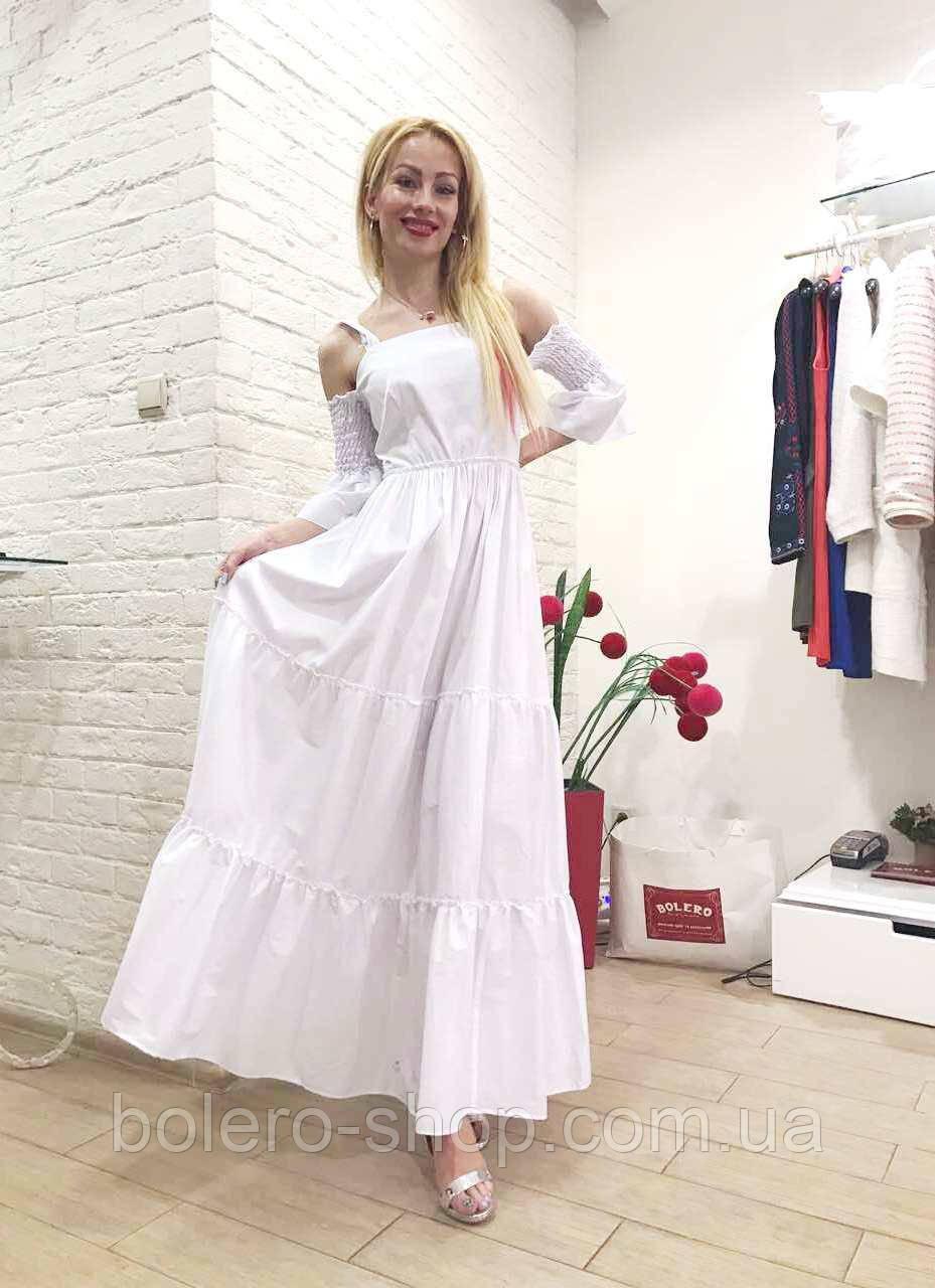 Женское платье летнее длинное  белое брендовое Италия
