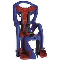 Сиденье задн. BELLELLI Pepe Clamp детское до 22кг (синий с красной подкладкой) крепится на багажник