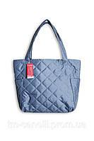 Женская дутая сумка Миранда серая