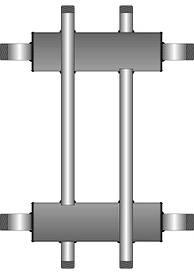Коллекторные балки для котлов 10-60 кВт