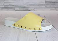 Шлепки Яркие. Сандалии женские. Шлепанцы натуральная кожа 0716