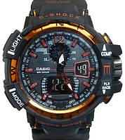 Мужские часы Casio G-Shock GW-A1100 Черный с оранжевым