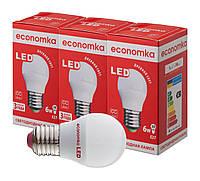 Светодиодные лампы Economka LED G45 6W СУПЕРПАК 3шт E27-4200К