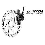 Дисковый тормоз передний Tektro Auriga-F-160 черный без ротора и адаптера