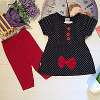 Красивый Костюм для Девочки Красный  1-2-3  года