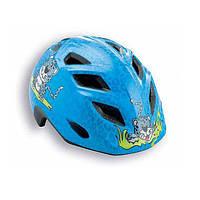 Шлем детский MET 2015 ELFO синий/гепард, 46-53см