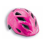 Шлем детский MET 2015 ELFO розовый/звезды, 46-53см