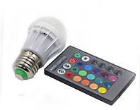 Лампа Lemanso светодиодная RGB с пультом 85-265V  LM736  E27 3W 210LM