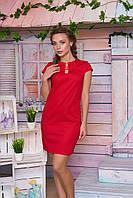 Льняное красное платье Вояж Arizzo 44-50 размеры