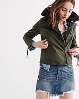 Оливковая куртка Abercrombie & Fitch
