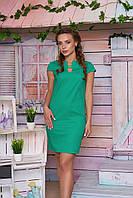 Льняное зеленое платье Вояж Arizzo 44-50 размеры