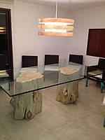 Подвесные светильники из натурального дерева, ручной работы, модель 4