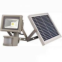 Прожектор LED 50w cолнечная батарея + аккумулятор с датчиком двежения  4000LM LEMANSO