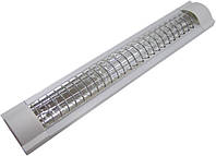Светильник Lemanso 2x36 T8 две лампы сереб. решетка (без ламп) LM936R
