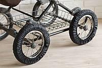 Чехлы на колёса коляски, чёрные, Baby Breeze, 0337 608
