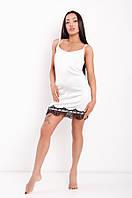 Ночная рубашка из шёлка Армани DN03 белая, фото 1