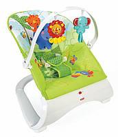 Массажное кресло-качалка Тропические друзья Fisher-Price CJJ79