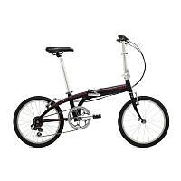 Велосипед складной Tern Link B7 черно-красный