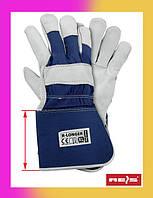 Кожаные рабочие перчатки