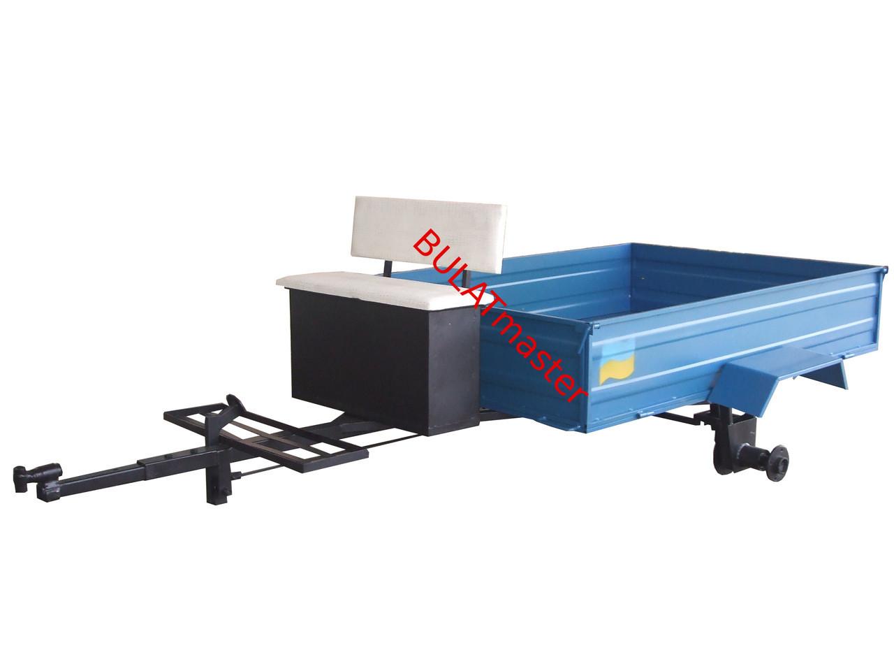 Прицеп для мотоблока (1,32 х 1,80 м) под жигулевские ступицы (без покрышек и колес)