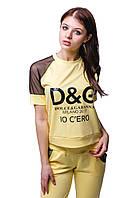 Женский спортивный костюм С-12 Желтый