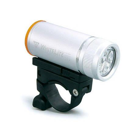Фара передняя Topeak WhiteLite DX 3 диода, 2 функц., серебристая, фото 2