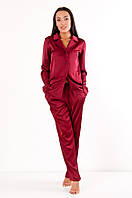 Пижама из шёлка Армани DN05- бордо, фото 1