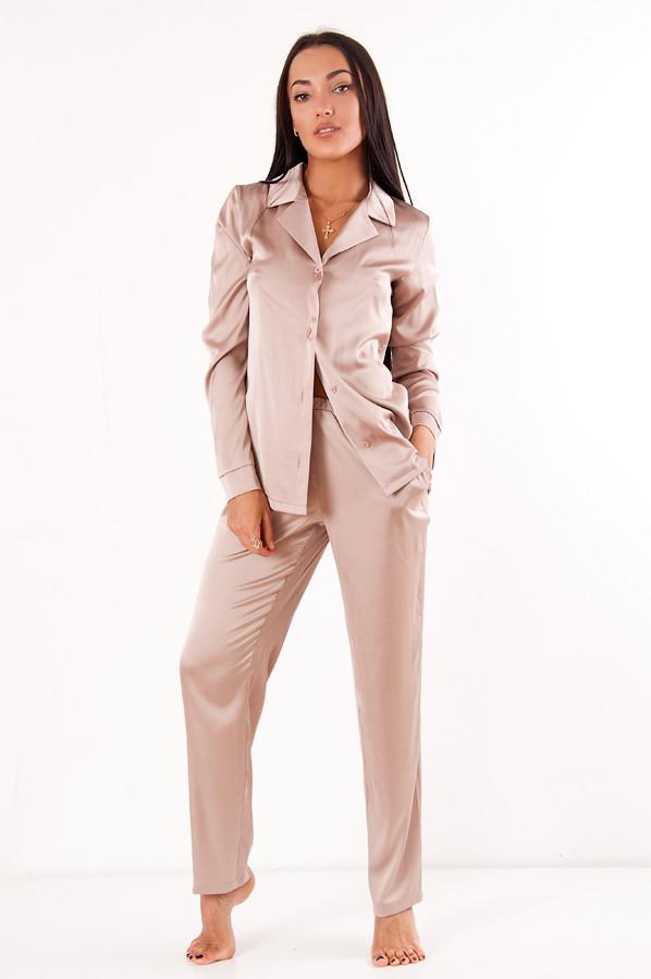 41474cbb847 Пижама из шёлка Армани DN05- бежевая - ВЕК - Интернет-магазин женской одежды  в