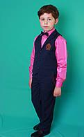 Школьный костюм синий в клеточку для мальчика