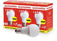 Умные СВЕТОДИОДНЫЕ лампы Economka 10W суперпак 3шт Е27-4200К, фото 1