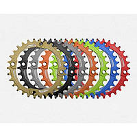 Звезда Funn Solo Narrow Wide AL7075, Anod. Green Chainring Wasabi 34T BCD 104mm wo/ bolts