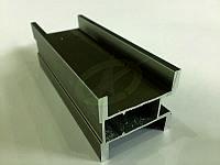 Профиль алюминиевый для раздвижных дверей, цвет св. бронза