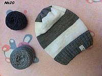 Вязаная шапочка на весну-осень
