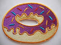 Нашивка Пончик Фиолетовый