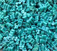 Вторичные гранулы полиэтилена (ПВД, ПНД) зеленые