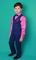 Костюм жилетка брюки для мальчика синий