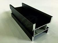 Профиль алюминиевый для раздвижных дверей, цвет коньяк