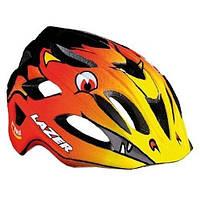 Шлем детский Lazer P'NUT, пламя дракона оранжевый, размер 46-50см