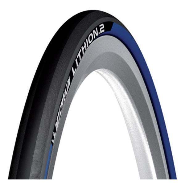 Покрышка Michelin LITHION2 V2 700x23C, складывающ. черный/синий
