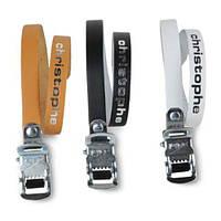 Ремешки Zefal Christophe 516 (5160A) для туклипсов, кожаные, черные, пара