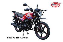 BIRD X3 150 (RANGER)  (легкий мотоцикл) (внедорожная резина, защита рук, защита передней фары, защитные дуги,