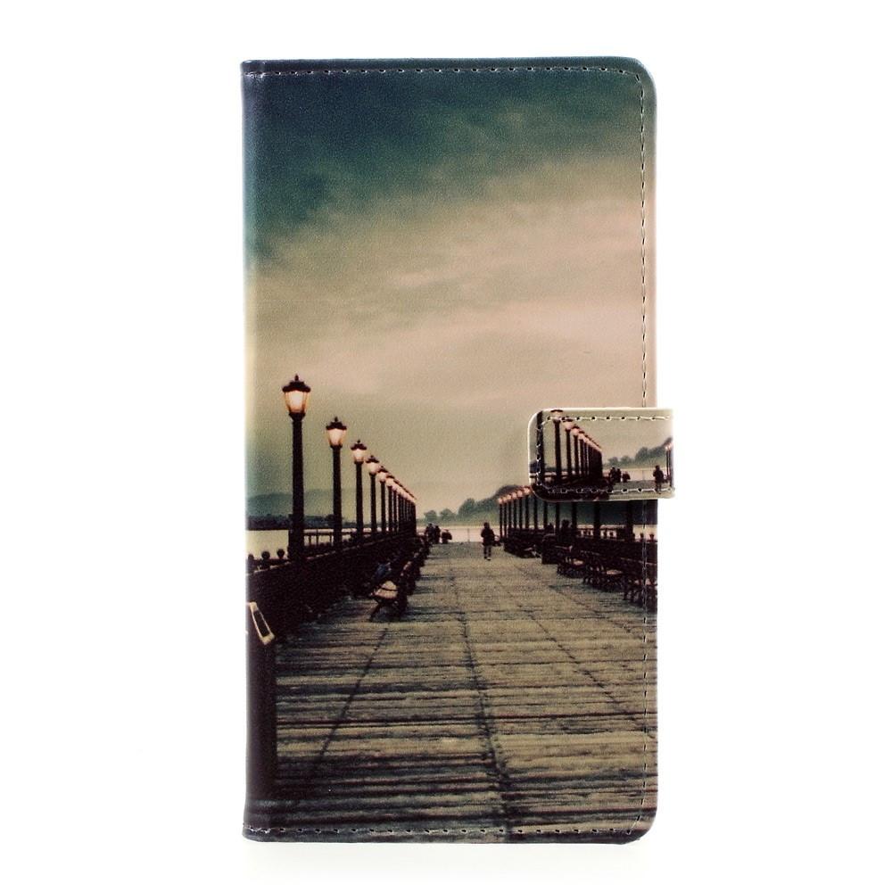 Чехол книжка для Huawei P10 Plus боковой с отсеком для визиток, Мост