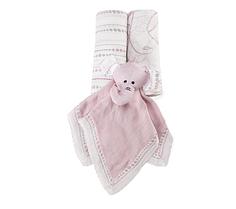 Подарок на рождение (2 пеленки, игрушка-комфортер), Aden&Anais Tranquility