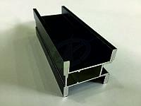Профиль алюминиевый для раздвижных дверей, цвет черный
