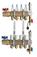 Латунный коллектор premium 3 - 2 секции
